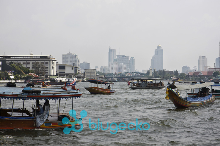 Boats on the Chao Phraya River